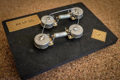 précablage électronique pour fender stratocaster avec un volume deux tonalités